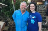 Dr Jemma Green with Sir Richard Branson